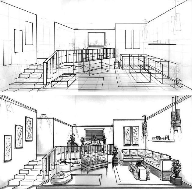 Exercise 7 One Point Perspective Room Dan Dressler