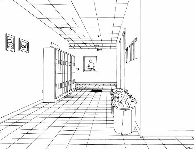 exercise 7  one point perspective room